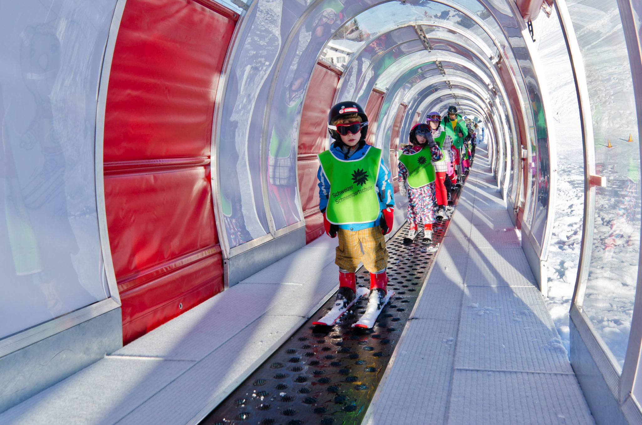 Skifahren mit Kindern Stoos