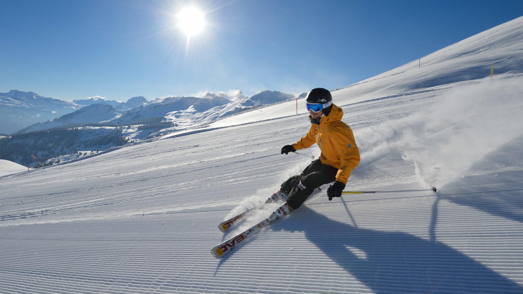 Skifahren auf dem Stoos