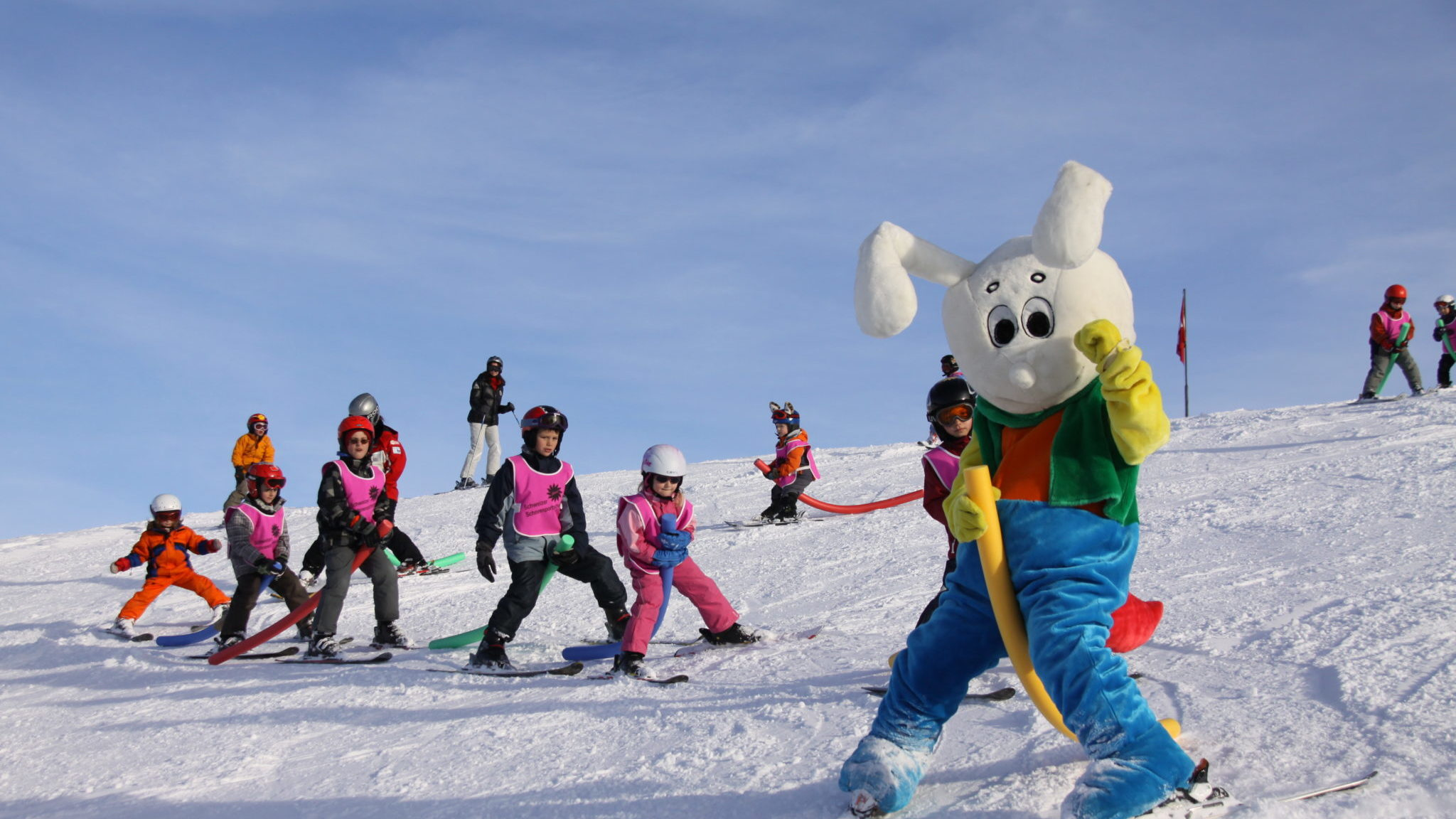 Skischule auf dem Stoos