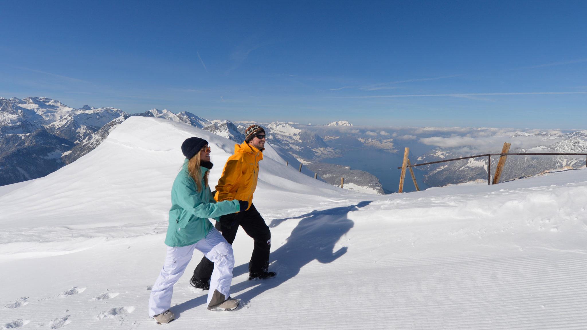 Winterwandern auf Fornalpstock